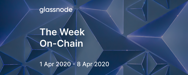 The Week On-Chain (1 Apr 2020 - 8 Apr 2020)